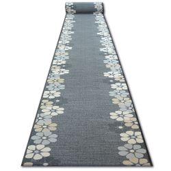Alfombra de pasillo con refuerzo de goma SKY Las asteráceas gris
