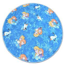 Teppich rund FROZEN blau ELSA