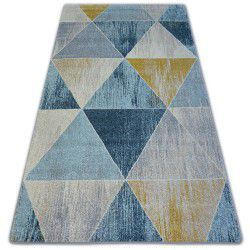Carpet NORDIC TRIANGLE blue/cream G4584