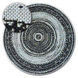 Килим колесо шнуровий SIZAL FLAT 48756/960 вітражі