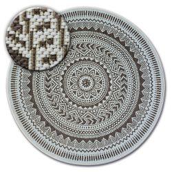Alfombra de cuerda sisal FLAT círculo 48695/768 Vidriero