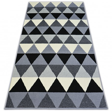 Ковер BCF BASE треугольники 3813 треугольники черный/серый