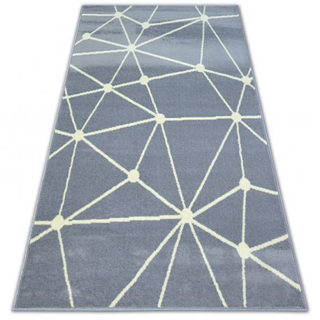 Tapis BCF BASE GALAXY 3925 TRIANGLES gris