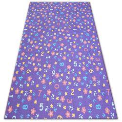 Килим для дітей NUMBERS фіолетовий цифри, алфавіт