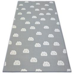 Antirutsch Teppich Teppichboden für Kinder CLOUDS grau