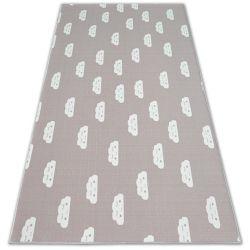 Gyerekeknek szőnyegpadló csúszásgátló FELHŐK rózsaszín