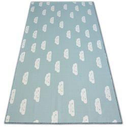 Antirutsch Teppich Teppichboden für Kinder CLOUDS grün