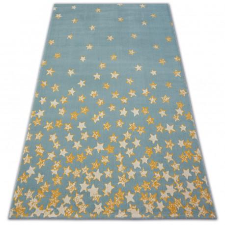 Tappeto FASCIATEL 18408/032 - Stelline turchese oro crema