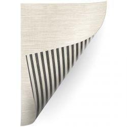 Teppich Doppelseitiges DOUBLE 29205/095 STREIFEN schwarz/beige / MELANGE beige