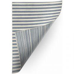 Teppich Doppelseitiges DOUBLE 29203/035 STREIFEN blau/beige