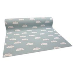 Antypoślizgowa wykładzina dywanowa pour enfants CLOUDS vert