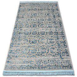 Akril manyas szőnyeg 193AA Szürke/Kék rojt