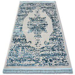 Akril manyas szőnyeg 192AA Szürke/Kék rojt