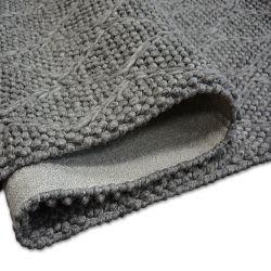 Teppich Hills Wolle 93520 anthrazit