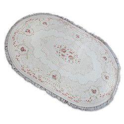Килим AKRYL овальний MIRADA 0132 кремовий рожевий Бахрома