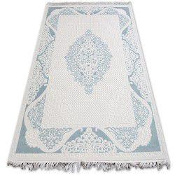 Teppich ACRYL MIRADA 5416 Blau ( Mavi ) Franse