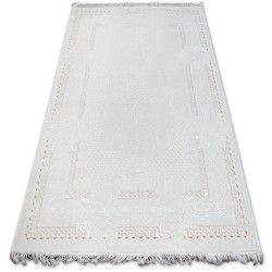 Teppich ACRYL MIRADA 5417 Elfenbein ( Kemik ) Franse