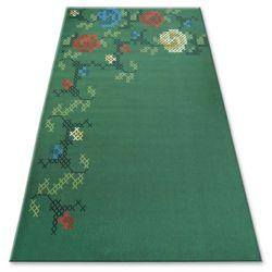Carpet FOLK HAFT dark green