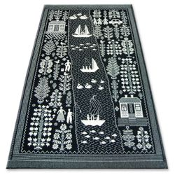 Teppich FOLK ECHO schwarz