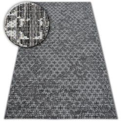 Alfombra de cuerda sisal LOFT 21145 Boho marfil/plateado/gris