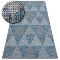 Fonott sizal szőnyeg LOFT 21132 HÁROMSZÖGEK elefántcsont/ezüst/kék
