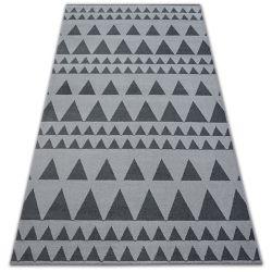 Килим SENSE Micro 81243 трикутники срібло/антрацит