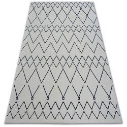 Carpet SENSE Micro 81249 ZIGZAG ETHNO white/navy