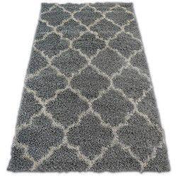 Tappeto SHAGGY GALAXY TRELLIS Marocco Trifoglio - 8175 grigio