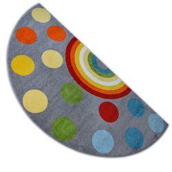 Teppich PAINT Halbkreis G4779 - Regenbogen grau/sahne