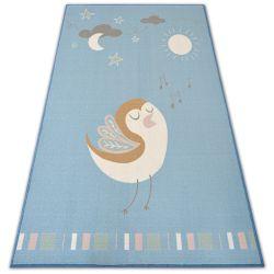 Ковер для детей LOKO птица синий антискольжение