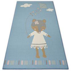 Teppich für Kinder LOKO Maus blau Antirutsch