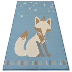 Carpet for kids LOKO Fox blue anti-slip