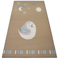 Carpet for kids LOKO Bird beige anti-slip