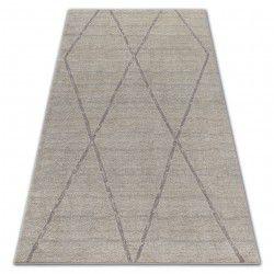 Carpet SOFT 8033 ETHNO DIAMONDS cream / light brown
