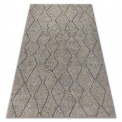 Alfombra SOFT 8050 Zigzag Boho crema/marrón claro