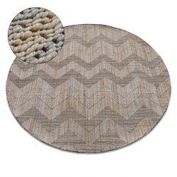 Kulatý koberec NATURE SL 100 béžový TĚTIVA SISAL BOHO