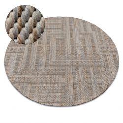 Kulatý koberec NATURE SL150 béžový TĚTIVA SISAL BOHO