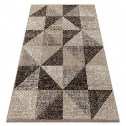 Carpet FEEL 5672/15055 TRIANGLES beige / brown / cream