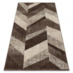 Carpet FEEL 5673/15044 HERRINGBONE d.brown / beige / cream / gray