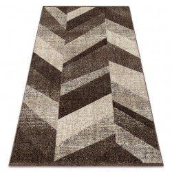 Feel szőnyeg 5673/15044 HALSZÁLKÁS barna / bézs / krém
