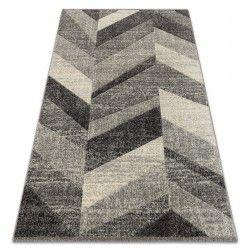 Alfombra FEEL 5673/16811 Diseño Espiga gris/antracita/crema