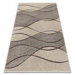 Teppich FEEL 5675/15033 WELLEN braun / beige / grau