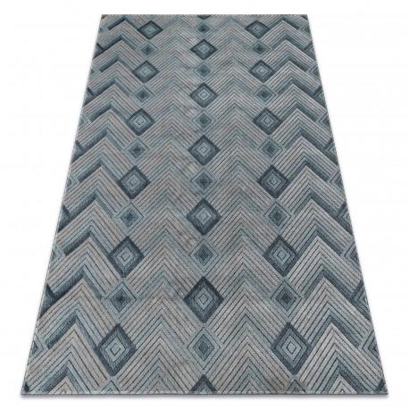 Dywan SIERRA G5015 Jodełka Płasko tkany, dwa poziomy runa niebieski