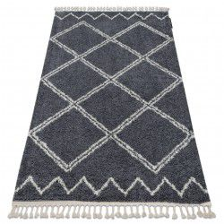 Килим BERBER ASILA B5970 бяло/сиво ресни берберски, марокански шаги