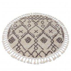 Tappeto BERBER TANGER B5940 cerchio crema / marrone Frange berbero marocchino shaggy