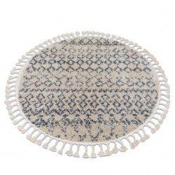 Koberec BERBER AGADIR G0522 kruh krém / šedá Třepení berber maročtí shaggy