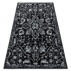 Carpet RETRO HE184 black / cream Vintage
