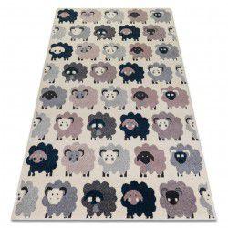 Ковер HEOS 78468 крем / розовый / синий / серый овцы