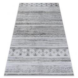 Carpet NOBIS 84245 silver- ZIGZAG