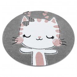 Carpet PETIT KITTY circle grey